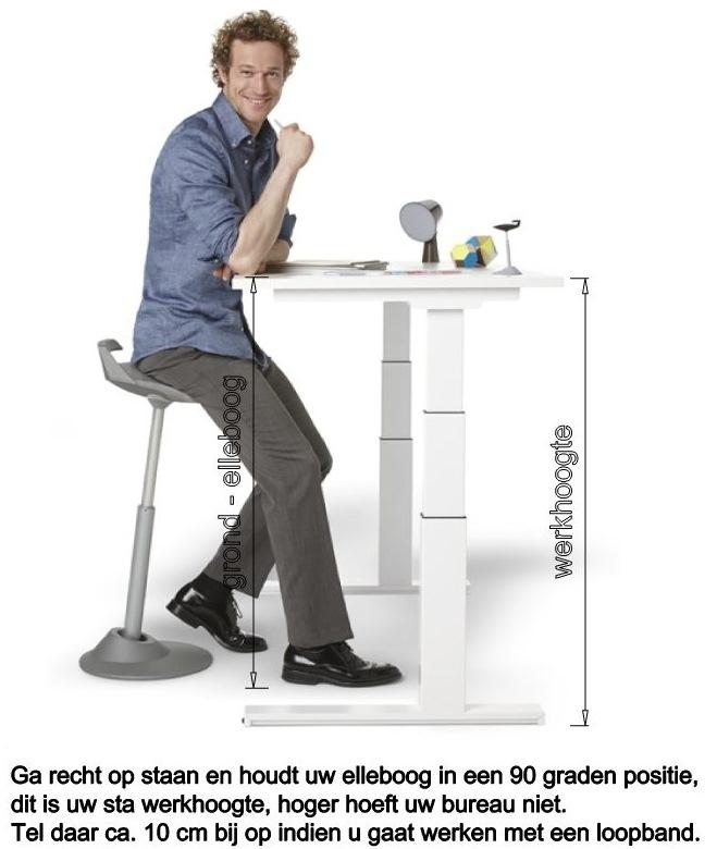 Zit sta bureaus 64 130 cm 2 stille geintegreerde for Bureau zit sta